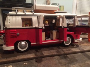Red Lego VW Van