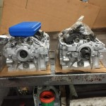 Heads after being disassembled and cleaned up at the machine shop