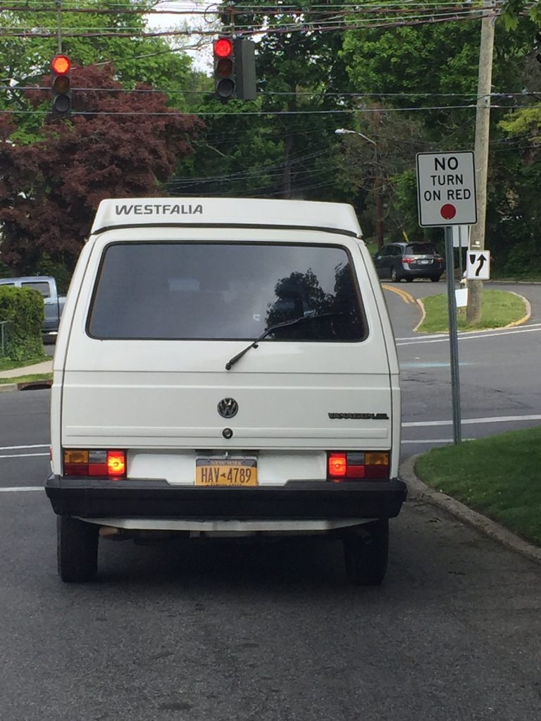White t3 pop top van