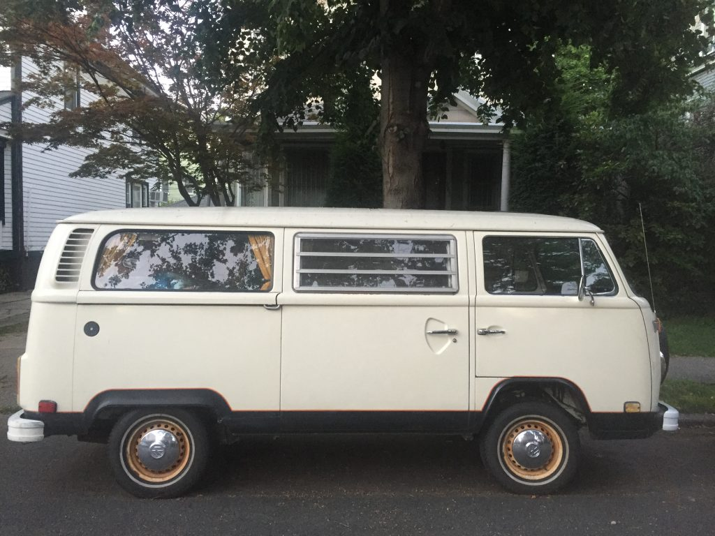 white t2 van side view