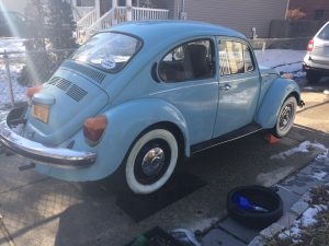 blue type 1 beetle on ramps